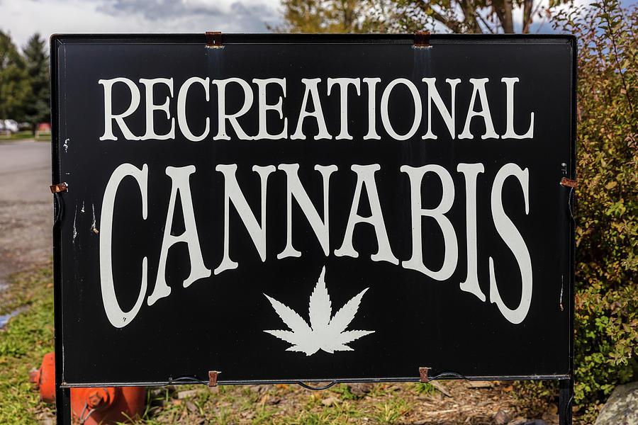 Horizontal Photograph - Cannabis Marijuana Store In Ridgway by Panoramic Images