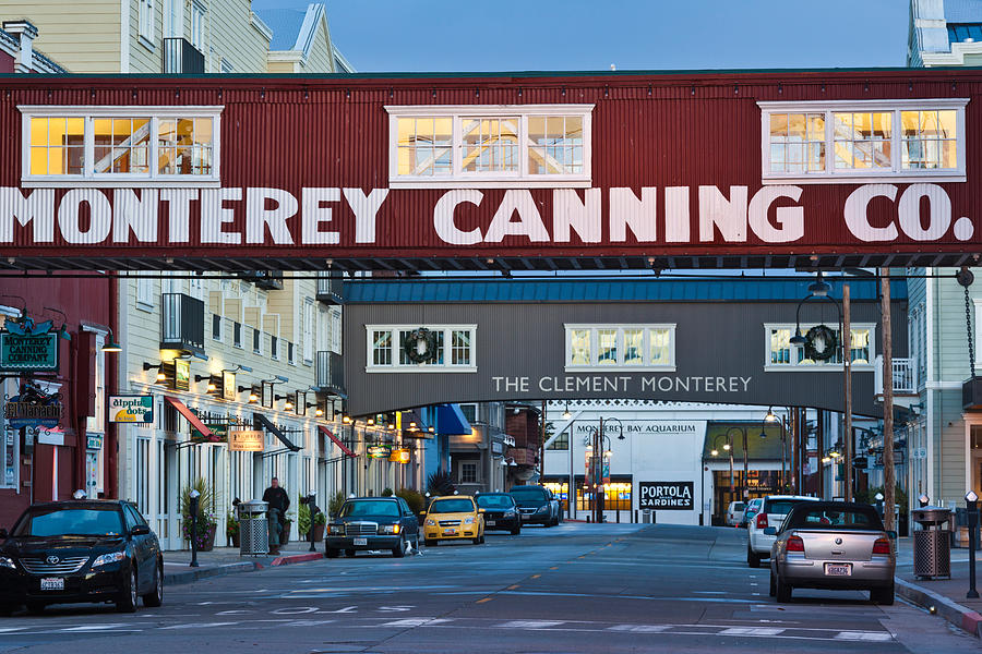 Color Image Photograph - Cannery Row Area At Dawn, Monterey by Panoramic Images