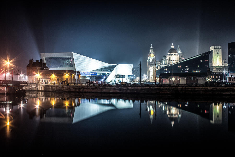 Liverpool Photograph - Canning Dock At Night by Paul Madden