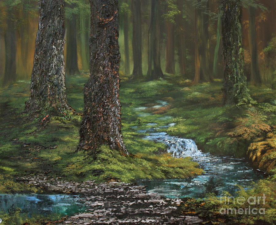 Cannock Chase Forest Painting - Cannock Chase Forest by Jean Walker
