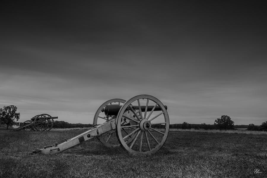 Battlefield Photograph - Cannon at Henry Hill by Pat Scanlon