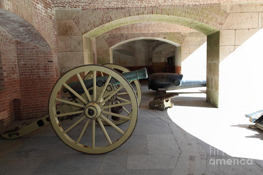 San Francisco Photograph - Cannon At San Francisco Fort Point 5d21495 by Wingsdomain Art and Photography