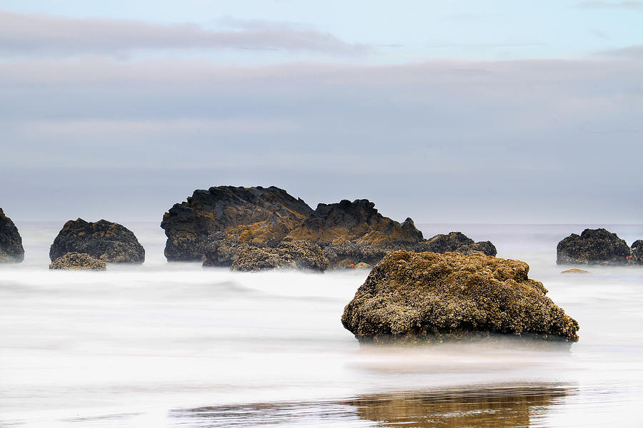Cannon Beach Photograph - Cannon Beach Early Morning Mist by David Gn