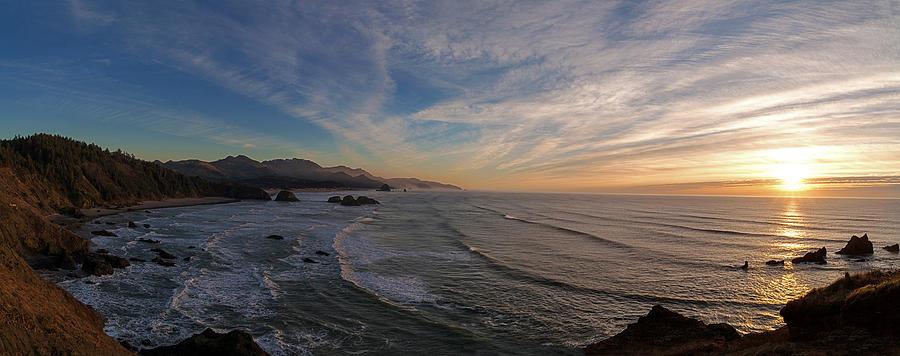 Cannon Beach Photograph - Cannon Beach Sunset by Mike Reid