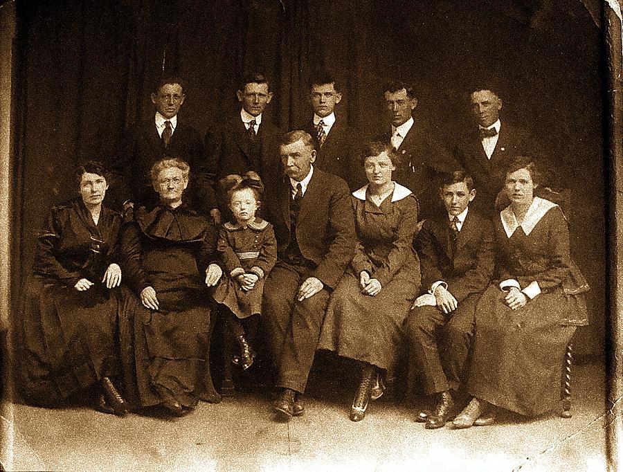 Album Photograph - Cannon Family Portrait Circa 1912 by Ellen Cannon