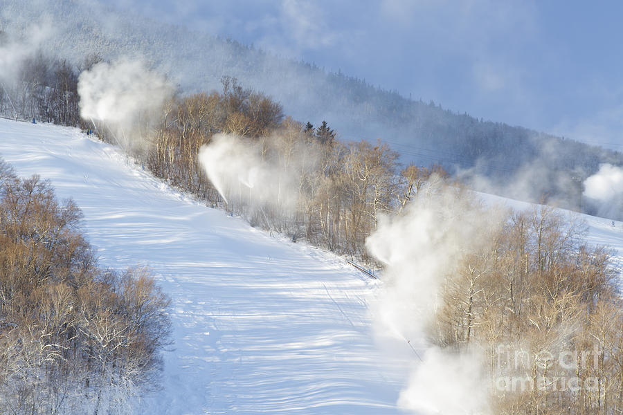 Blowing Snow Photograph - Cannon Mountain Ski Area - Franconia Notch State Park New Hampshire by Erin Paul Donovan