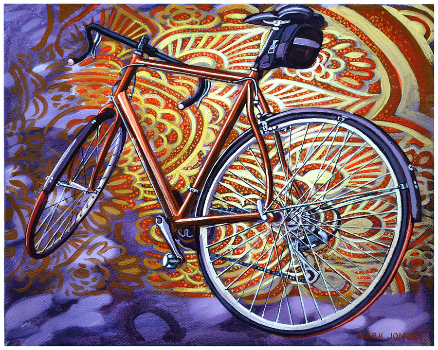 Bicycle Painting - Cannondale by Mark Jones