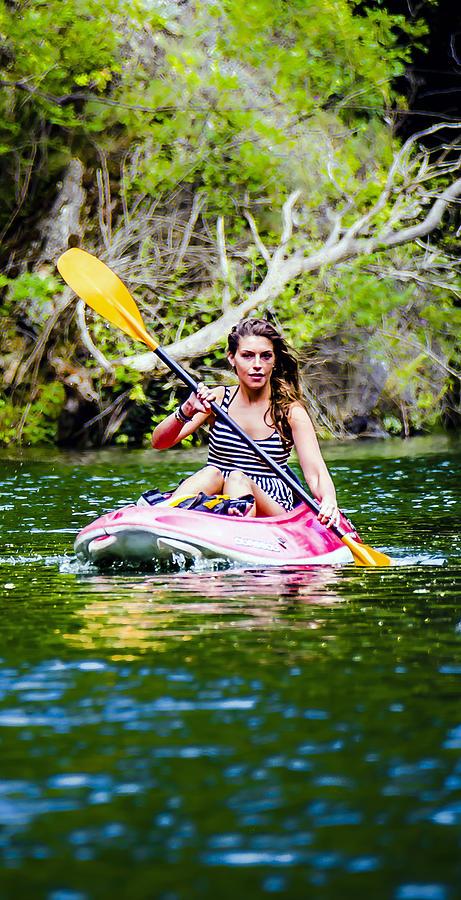 Beautiful Photograph - Canoe For Girls by Sotiris Filippou