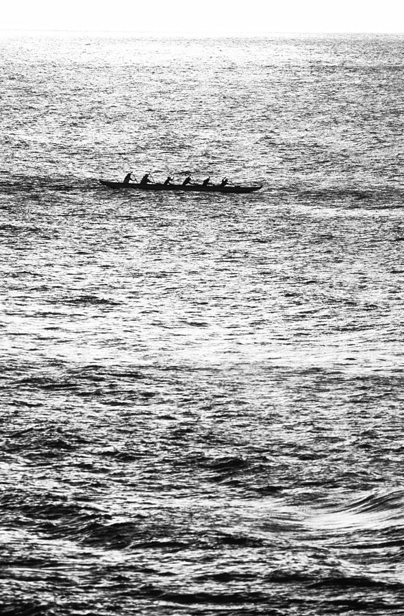 Hawaiian Photograph - Canoe Glitter by Sean Davey