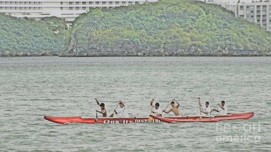 Guam Photograph - Canoe Practice by Scott Cameron