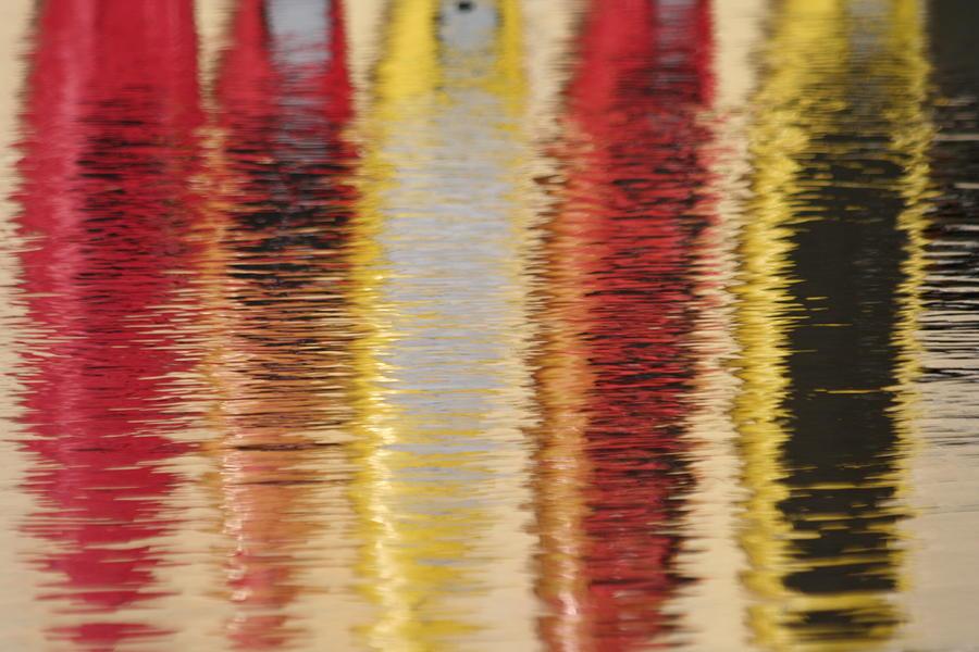 Canoe Photograph - Canoe Reflections by Carolyn Reinhart