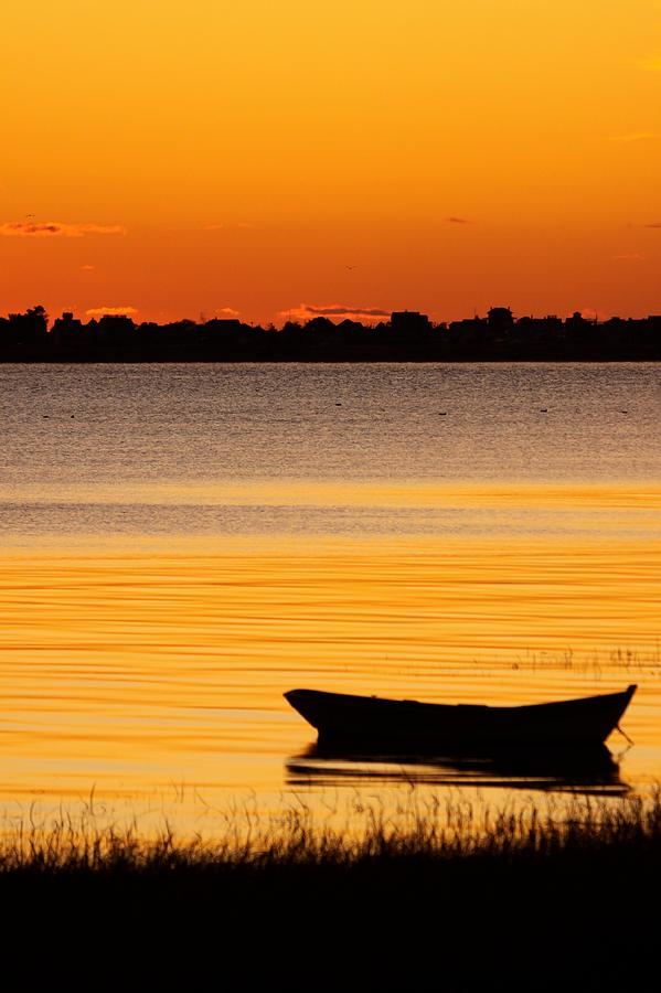 Canoe Photograph - Canoe Sunrise by Brian Magnier