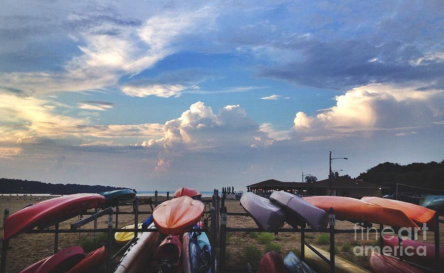 Canoes Photograph - Canoe Sunset by Stephanie  Varner