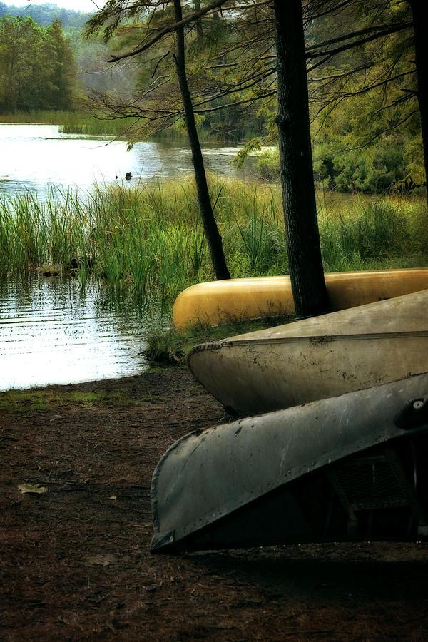 Canoe Photograph - Canoe Trio by Michelle Calkins