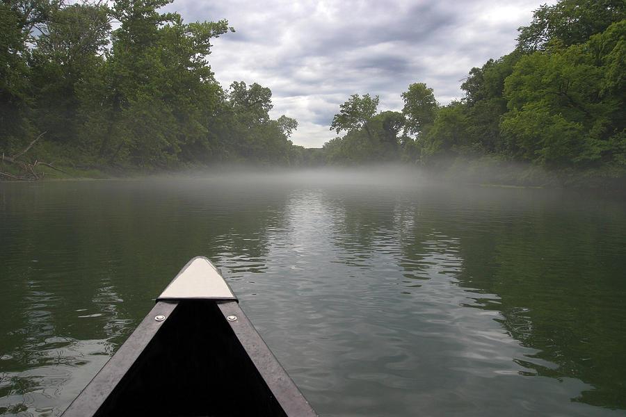 Adventure Photograph - Canoeing The Ozarks by Adam Romanowicz
