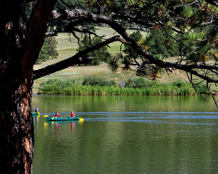 Canoes On Manitou Lake 11957 Photograph