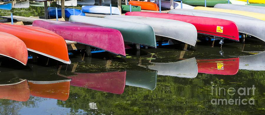canoes - Lake Wingra - Madison  Photograph by Steven Ralser