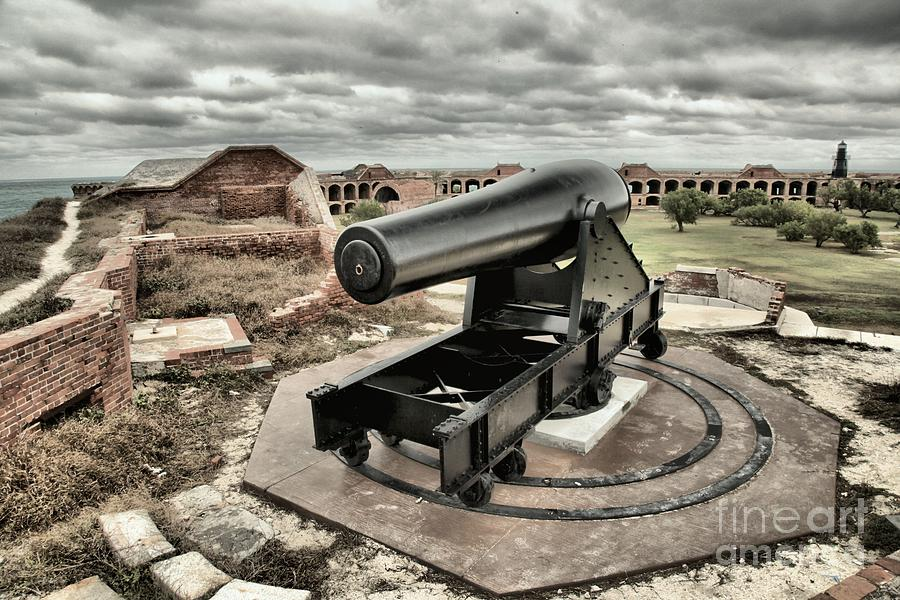 Fort Jefferson Photograph - Canon Fire 360 by Adam Jewell
