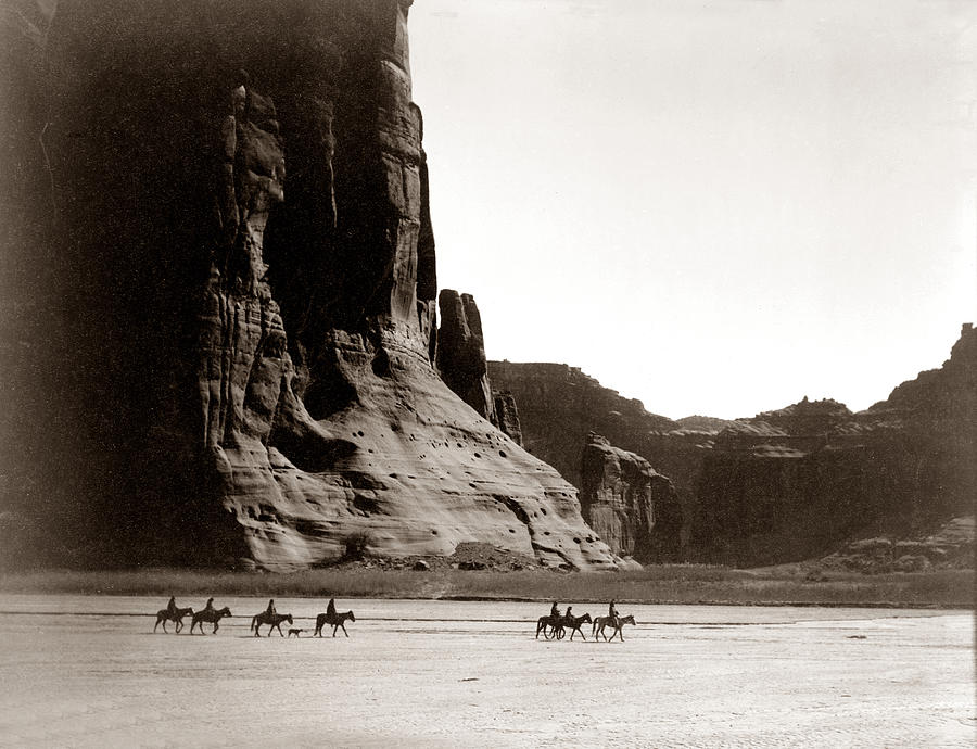 Navajo Native Americans Digital Art - Canonde Chelly Az 1904 by Edward S Curtis