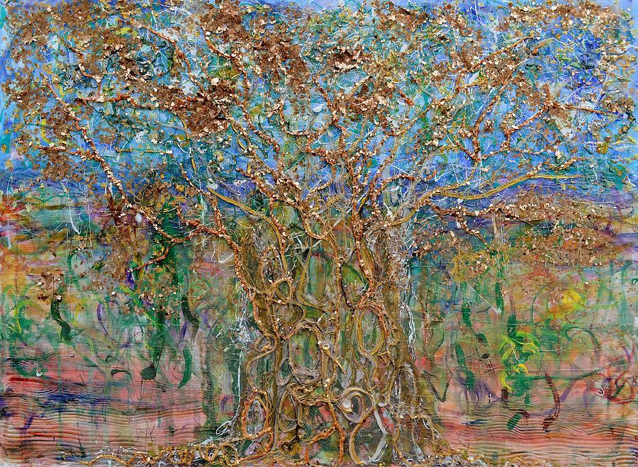 Acrylic Painting - Canopy by Regina Valluzzi