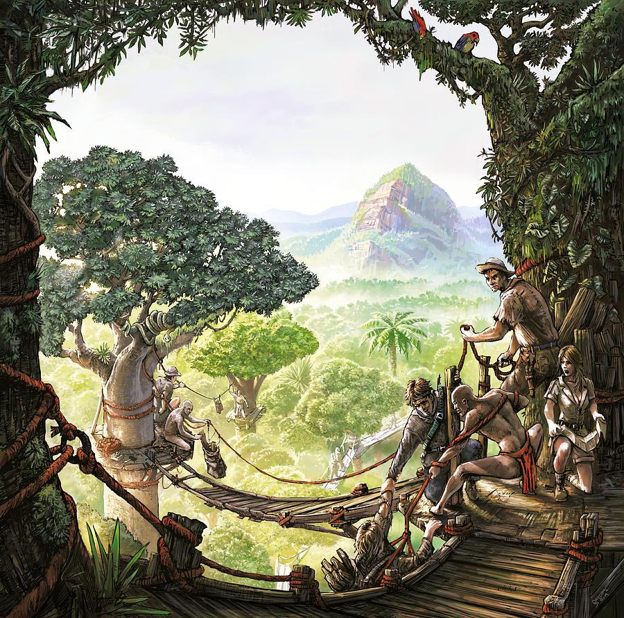 Jungle Mixed Media - Canopy Walk cover art by Odysseas Stamoglou