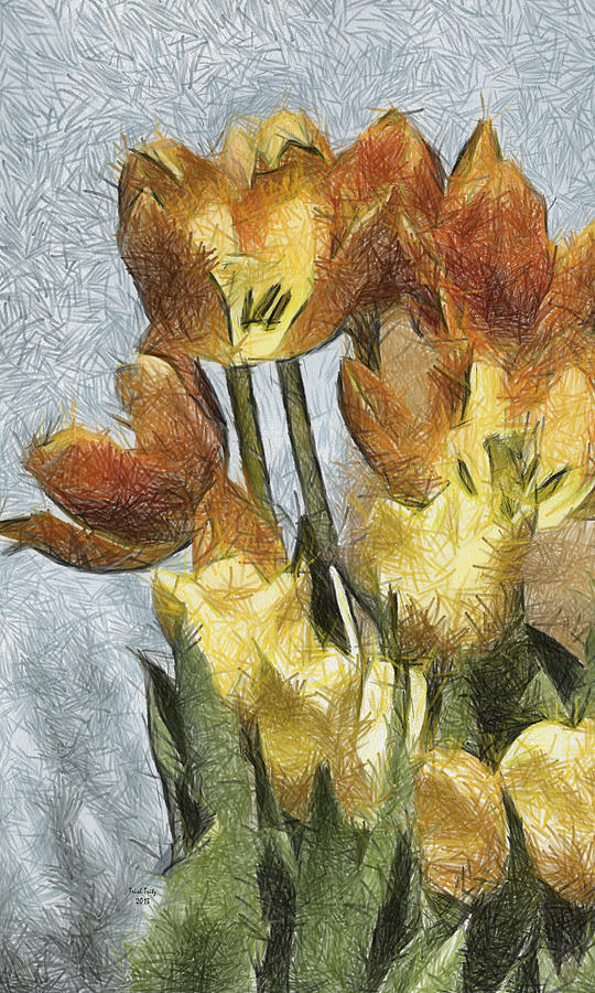 Flower Mixed Media - Cant Wait For Spring by Trish Tritz