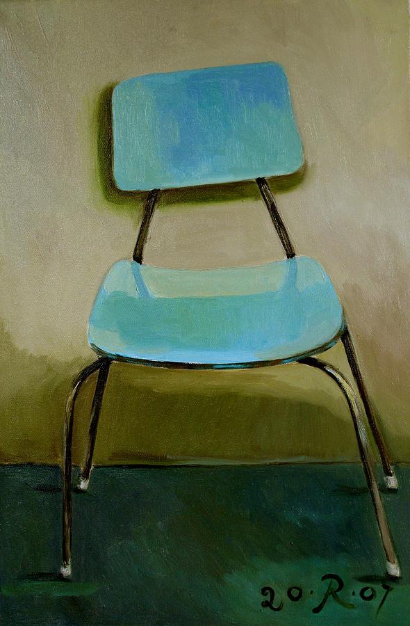 Canteen Chair Painting by Raimonda Jatkeviciute-Kasparaviciene