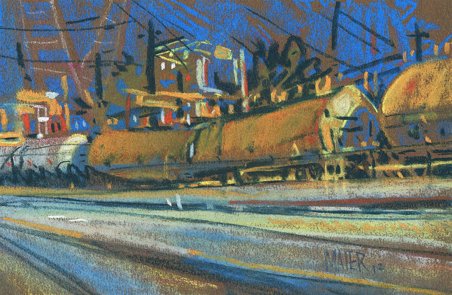 Train Painting - Canton Tracks by Donald Maier