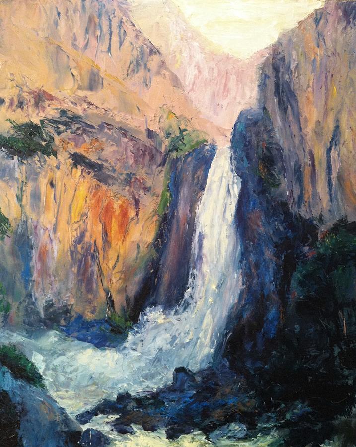 Canyon Painting - Canyon Blues by Gail Kirtz
