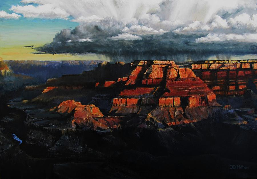 Grand Canyon Painting - Canyon Colors by David Mittner