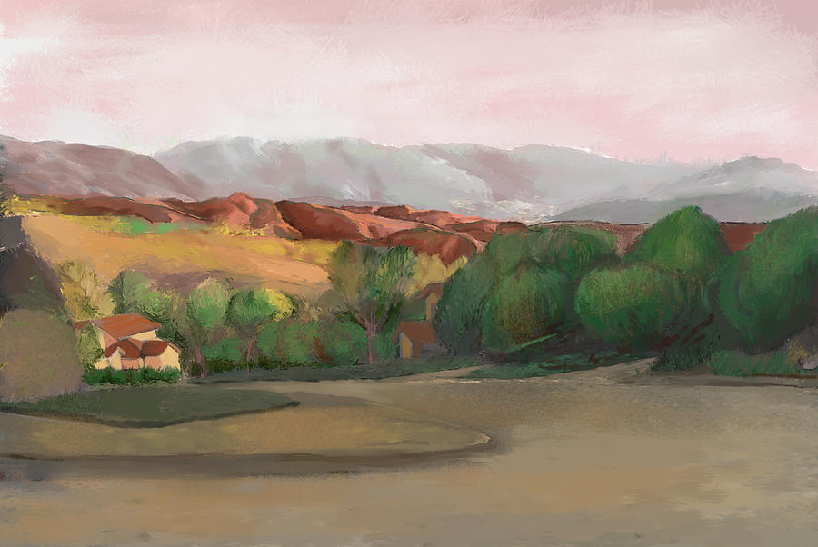 Canyon Country Mixed Media - Canyon Country Sunset by Karen Sperling
