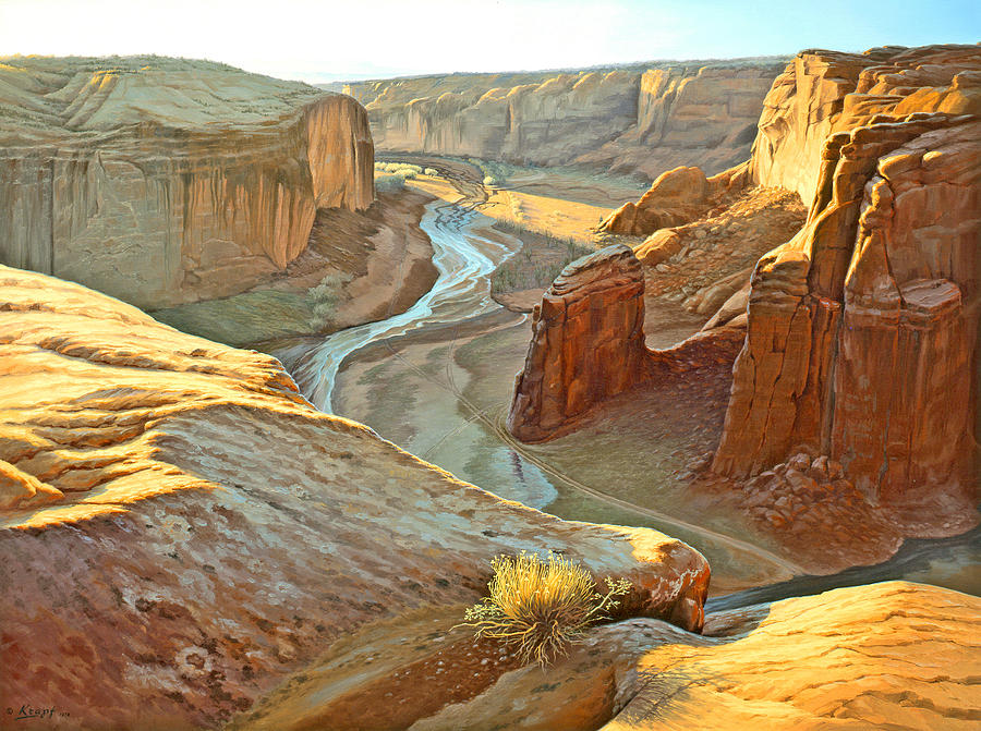 Landscape Painting - Canyon De Chelly by Paul Krapf