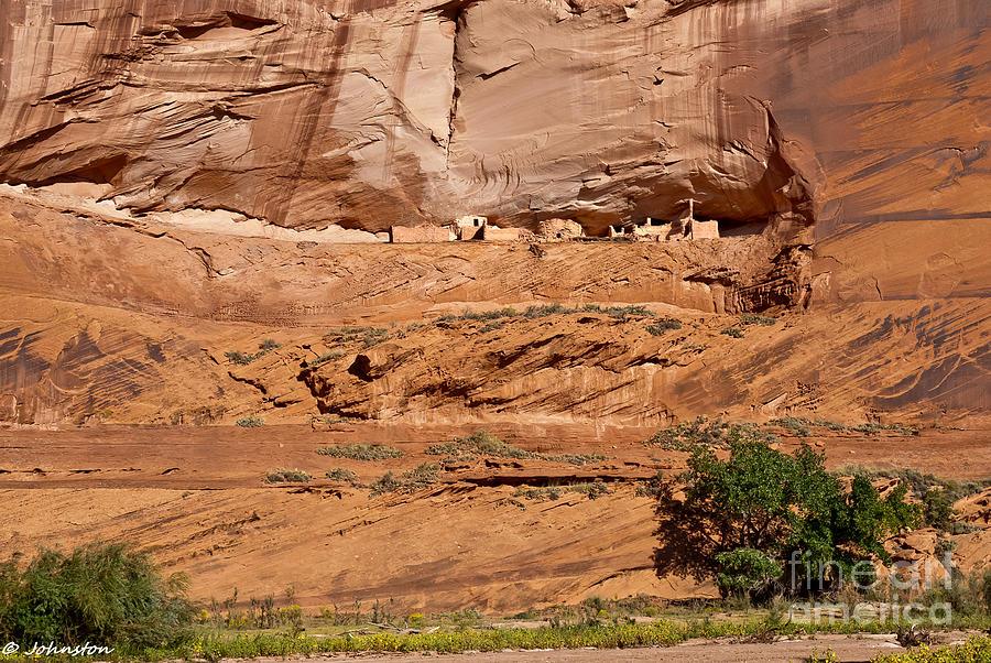Arizona Digital Art - Canyon Dechelly Whitehouse Ruins by Bob and Nadine Johnston