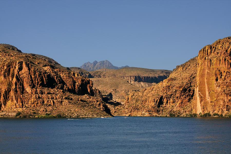 Canyon Photograph - Canyon Lake Of Arizona - Land Big Fish by Christine Till