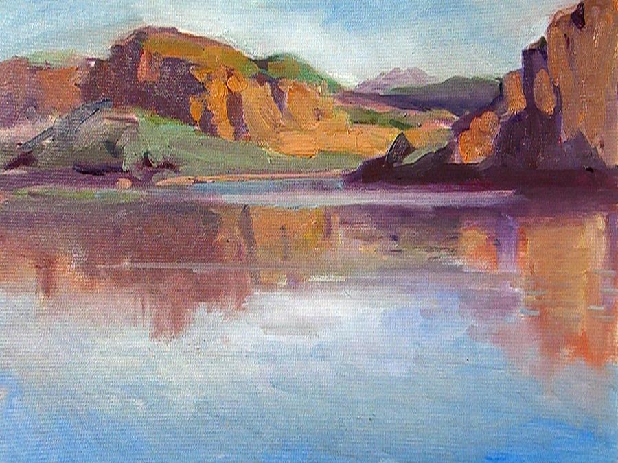 Landscape Painting - Canyon Lake Of Arizona by Mitzi Lai