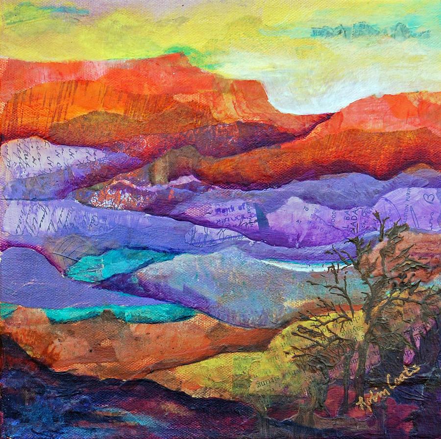 Canyon River Landscape Mixed Media By Robin Coats