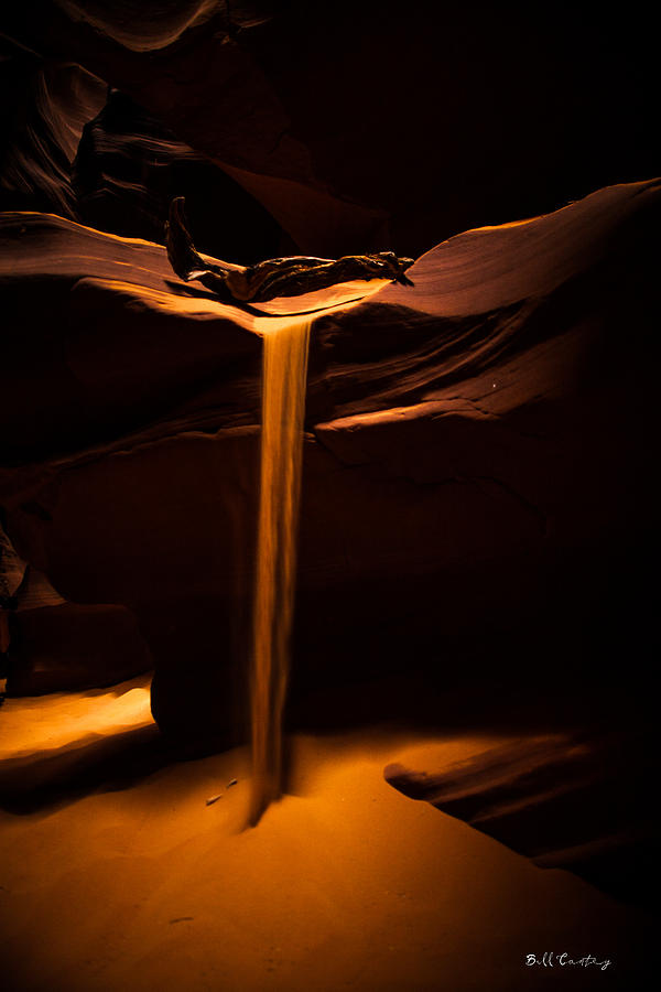 Landscape Photograph - Canyon Sand From Above by Bill Cantey