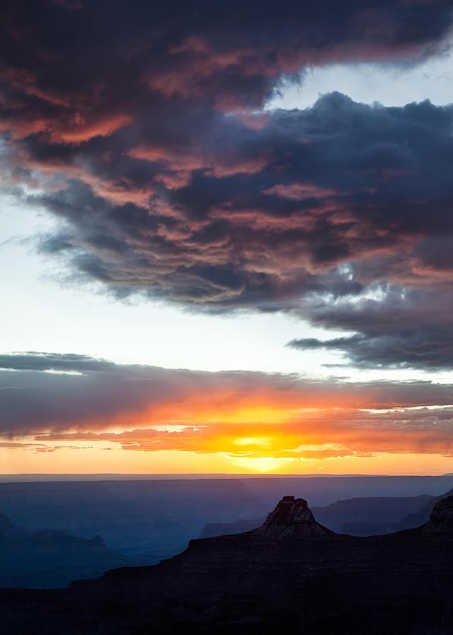 Grand Canyon Photograph - Canyon Sunset by Dave Bowman