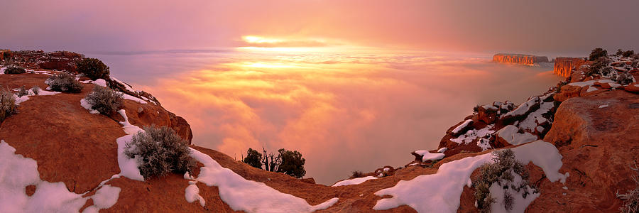 Canyonlands Photograph - Canyonlands Winter by Chad Dutson