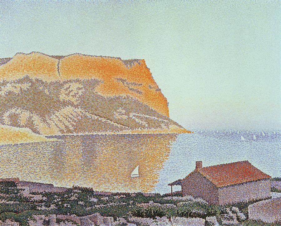 Pointillism Painting - Cap Canaille by Paul Signac