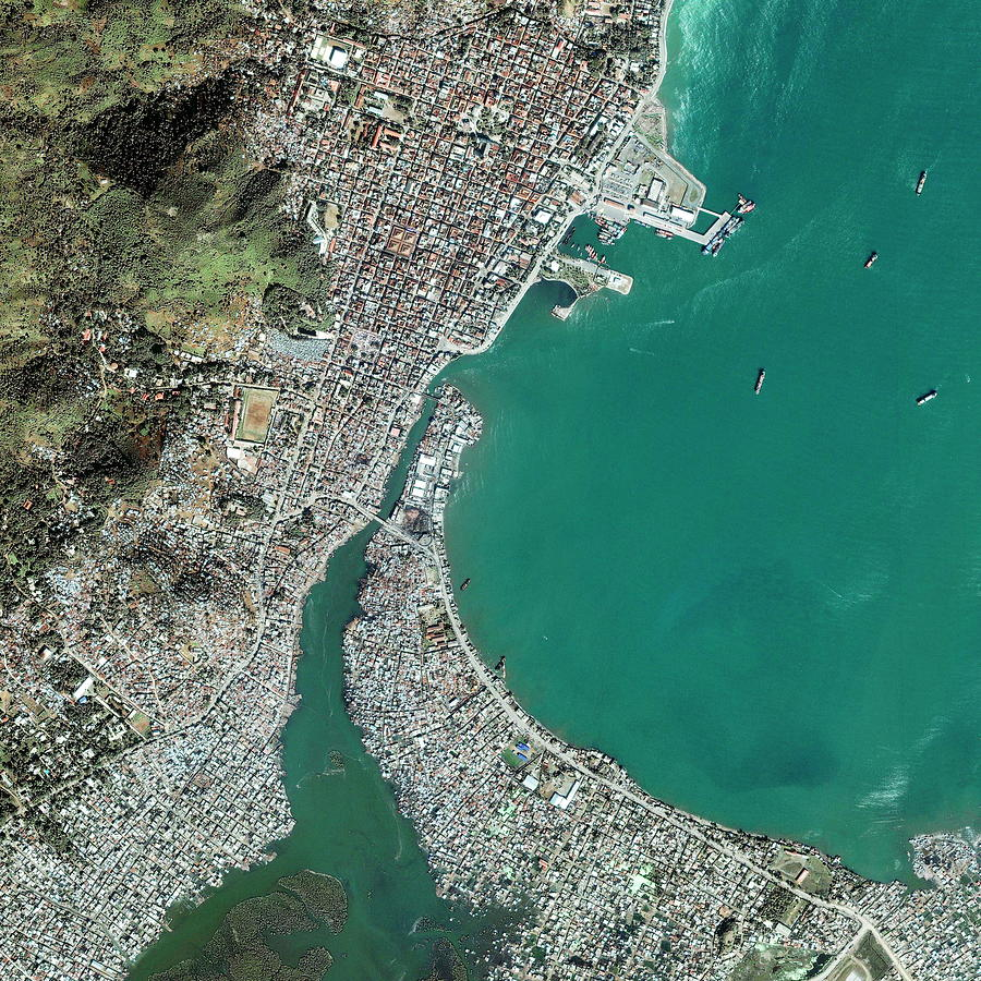 City Photograph - Cap Haitien by Geoeye/science Photo Library