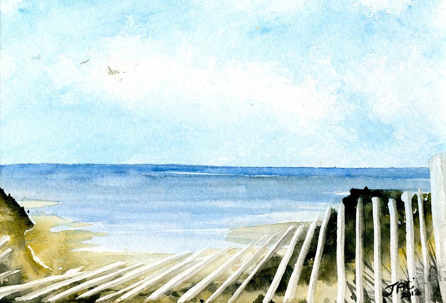 Cape Cod Bay Painting - Cape Cod Bay Study #2 by Jennifer  Creech