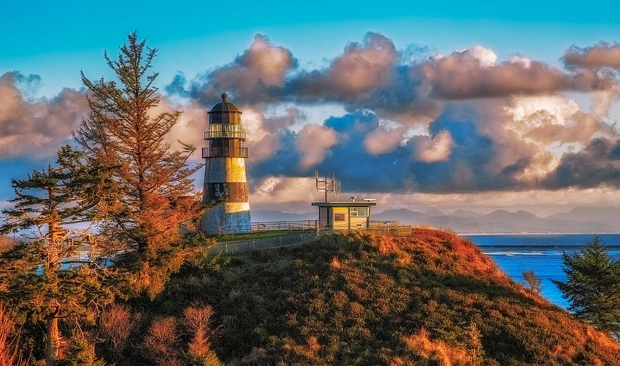 Washington State Photograph - Cape Disappointment Light House by James Heckt