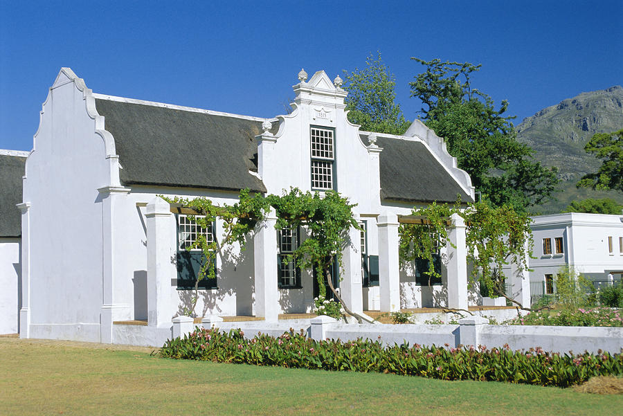 Cape Dutch Architecture Early 19th C Stellenbosch South Africa By