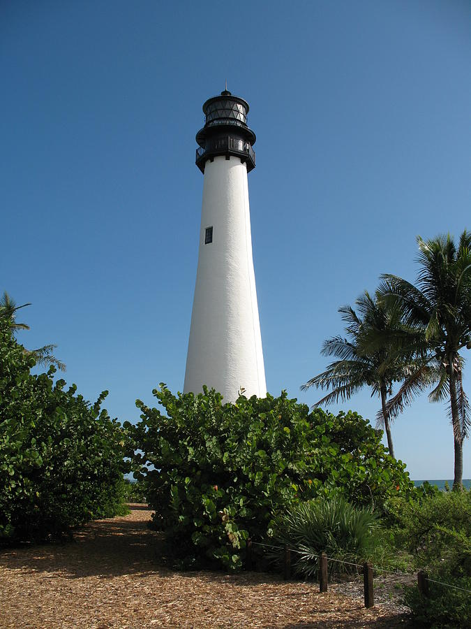 Lighthouse Photograph - Cape Florida Lightstation by Christiane Schulze Art And Photography
