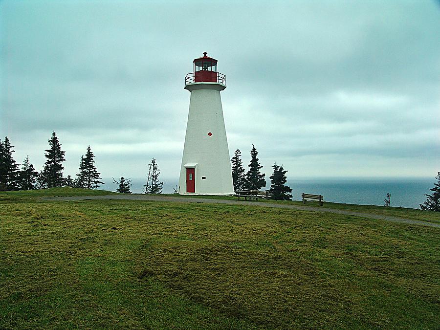 Nova Scotia Mixed Media - Cape George Lighthouse by Janet Ashworth
