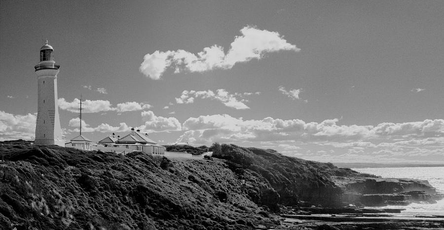 Lighthouse Photograph - Cape Green Light Momochrome by David Rich