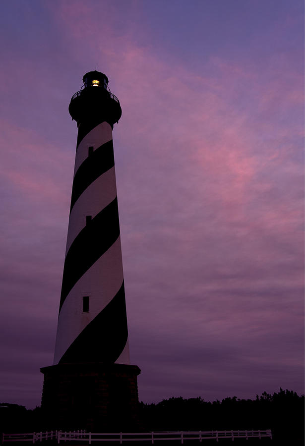 Sunset Photograph - Cape Hatteras Lighthouse At Dusk by Jim Baker