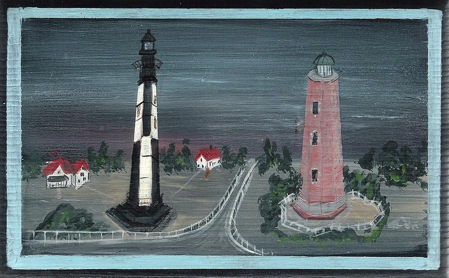 Lighthouse Painting - Cape Henry by Brenda Ruark