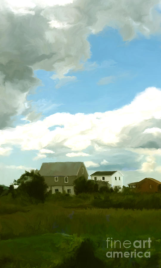 Cape Painting - Cape House by Paul Tagliamonte